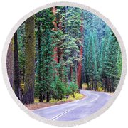 Sequoia Hwy Round Beach Towel