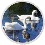 Round Beach Towel featuring the photograph Serenade Of  Love by Lingfai Leung
