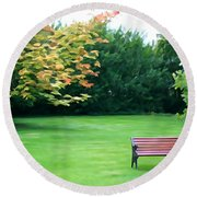 Round Beach Towel featuring the photograph Serenity by Charlie and Norma Brock