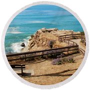 A Place To Relax Round Beach Towel