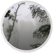Round Beach Towel featuring the photograph Serenity by Craig T Burgwardt