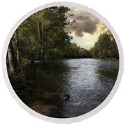 Round Beach Towel featuring the photograph Serenity by Lynn Geoffroy