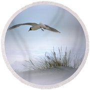 Round Beach Towel featuring the digital art Serenity by Nina Bradica