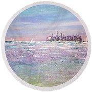 Serenity Sky - Sold Round Beach Towel