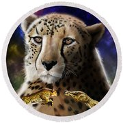 First In The Big Cat Series - Cheetah Round Beach Towel