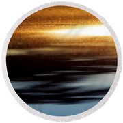 Setting Sun Round Beach Towel by Prakash Ghai