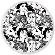 Seven Beauties Round Beach Towel