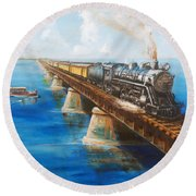 Seven Mile Bridge Round Beach Towel