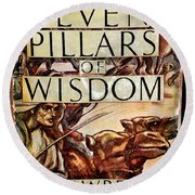 Seven Pillars Of Wisdom Lawrence Round Beach Towel by Jay Milo