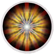 Seven Sistars Of Light Round Beach Towel