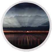 Severn Bridge Round Beach Towel
