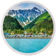 Seward Round Beach Towel