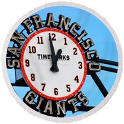 San Francisco Giants Baseball Time Sign Round Beach Towel