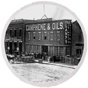 Sf Pacific Oil And Camphene Work Round Beach Towel