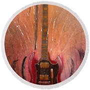 Round Beach Towel featuring the painting SG by Andrew King