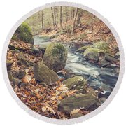 Shade Of November Round Beach Towel