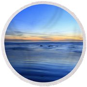 Rocks In Surf Carlsbad Round Beach Towel