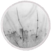 Shades Of Grey Round Beach Towel by Prakash Ghai