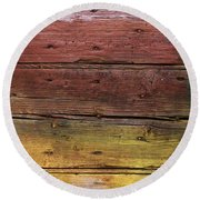Shades Of Red And Yellow Round Beach Towel by Ron Harpham