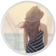 Shades Of Yesterday Round Beach Towel