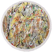 Pollock Round Beach Towel