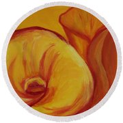 Shadow Lily Round Beach Towel