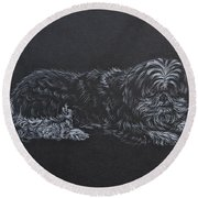 Shadow Round Beach Towel by Michele Myers