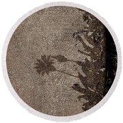 Shadow No.38 Round Beach Towel by Fei A