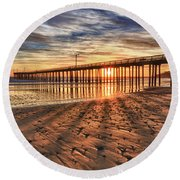 Shadow Rays Round Beach Towel