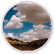 Shadows In The Valley Round Beach Towel
