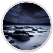 Shadows Of The Night Round Beach Towel