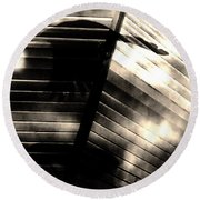 Round Beach Towel featuring the photograph Shadows Symphony  by Jessica Shelton