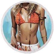 Shakira Artwork Round Beach Towel