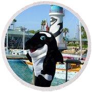 Shamu Round Beach Towel by David Nicholls