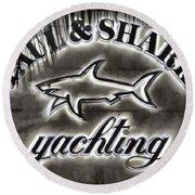 Shark Sign Round Beach Towel