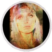 Sharon Tate - Angel Lost Round Beach Towel by Absinthe Art By Michelle LeAnn Scott