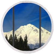 Round Beach Towel featuring the photograph Shasta by Athala Carole Bruckner