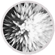 Round Beach Towel featuring the photograph Shattered by Dazzle Zazz