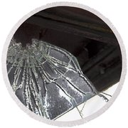 Round Beach Towel featuring the photograph Shattered by Lynn Sprowl