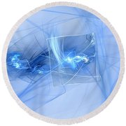 Round Beach Towel featuring the digital art Shattered by Victoria Harrington