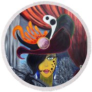 She Devil..   Round Beach Towel