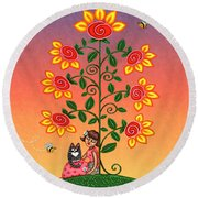 She Is Life Barnes And Noble Round Beach Towel