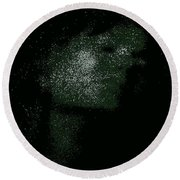 She Is Made Of Stardust Round Beach Towel