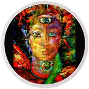 Third Eye Round Beach Towel