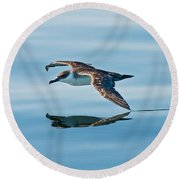Shearing The Water... Round Beach Towel