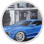 Shelby Mustang Round Beach Towel
