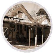 Shelby Store - Vintage Texas Sepia Round Beach Towel