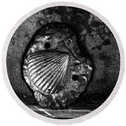 Round Beach Towel featuring the photograph Shell 1 by Fei A
