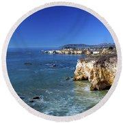 Shell Beach California Round Beach Towel