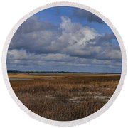 Shell Island To Figure Eight Panorama Round Beach Towel